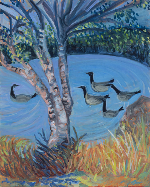 Geese Going South - 24w x 30h Oil on Canvas