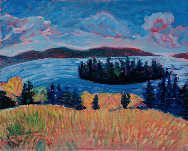 Hutchins's Island Fall Field - 28 in x 35 in