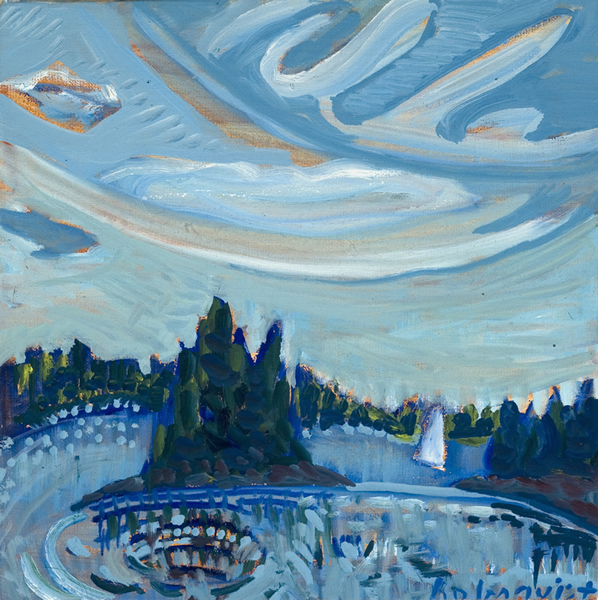 Gilkey's Harbor - 12w x 12h Oil on Canvas SOLD
