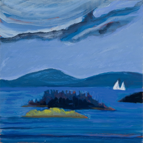 'Goose Island and Lasell Island' 10x10