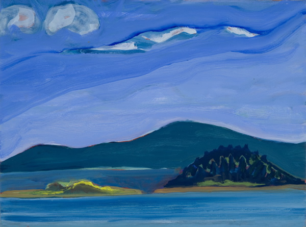 'Mouse Island and Lime Island' - 11w x 14h Oil on Canvas