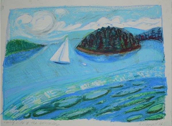 Sailing Close to the Horizon - 19 x 15