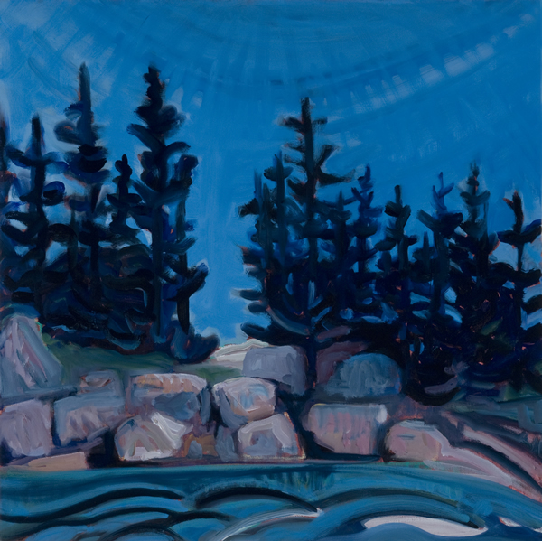Pink Granite Boulders - 24w x 24h Oil on Canvas SOLD!