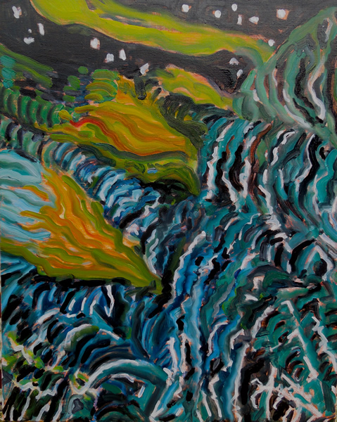 Moon Tide, Southwest Wind 24w x 30h