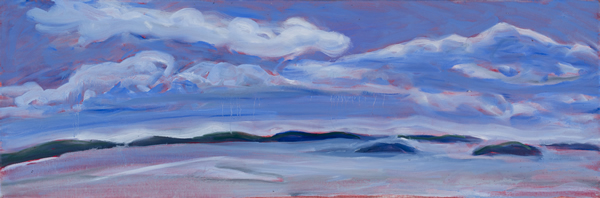 Weather over the East Bay 30W x 10H SOLD!